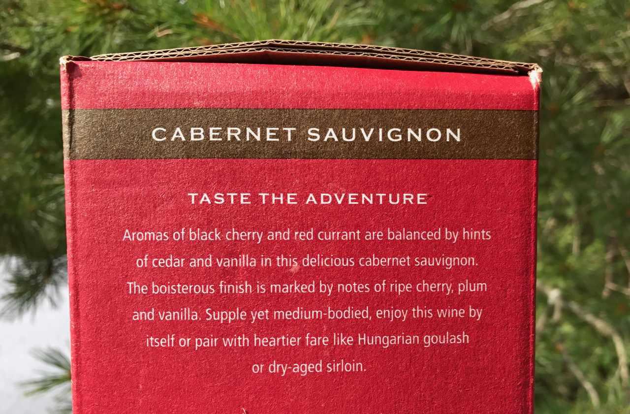 label description on bota box