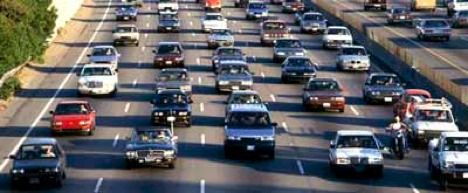 commuting causes air pollution photo
