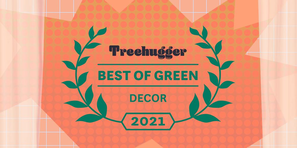 Best of green awards badge on a colorful background