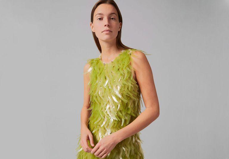 algae sequin dress Charlotte McCurdy Phillip Lim One X One