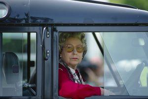 Queen Elizabeth in her Land Rover