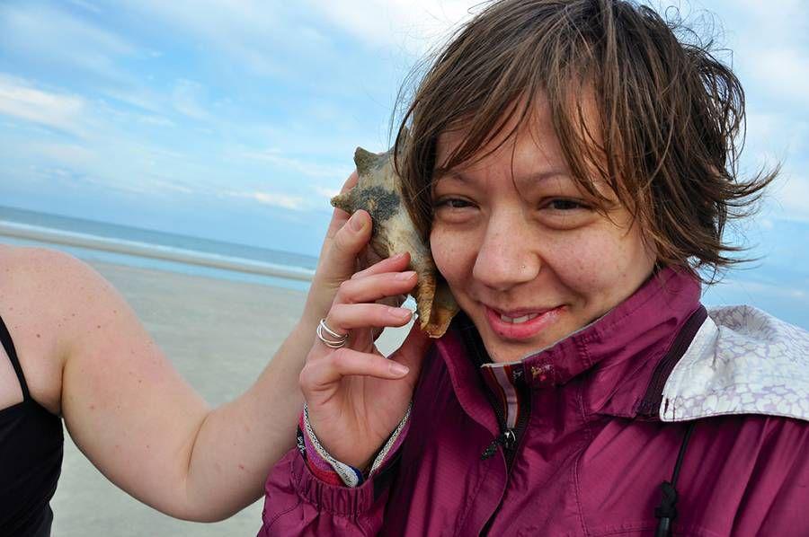 Cumberland Island: Beach combing
