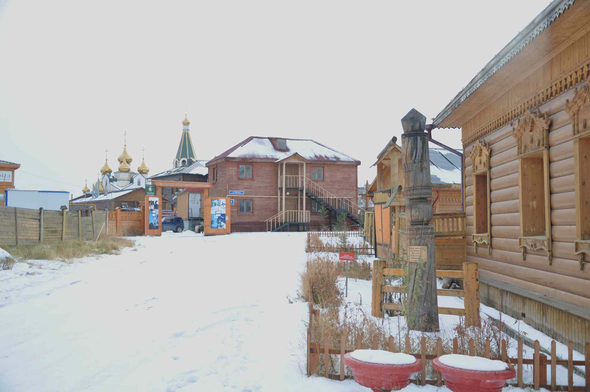 Snowy village of Yakutsk, Russia