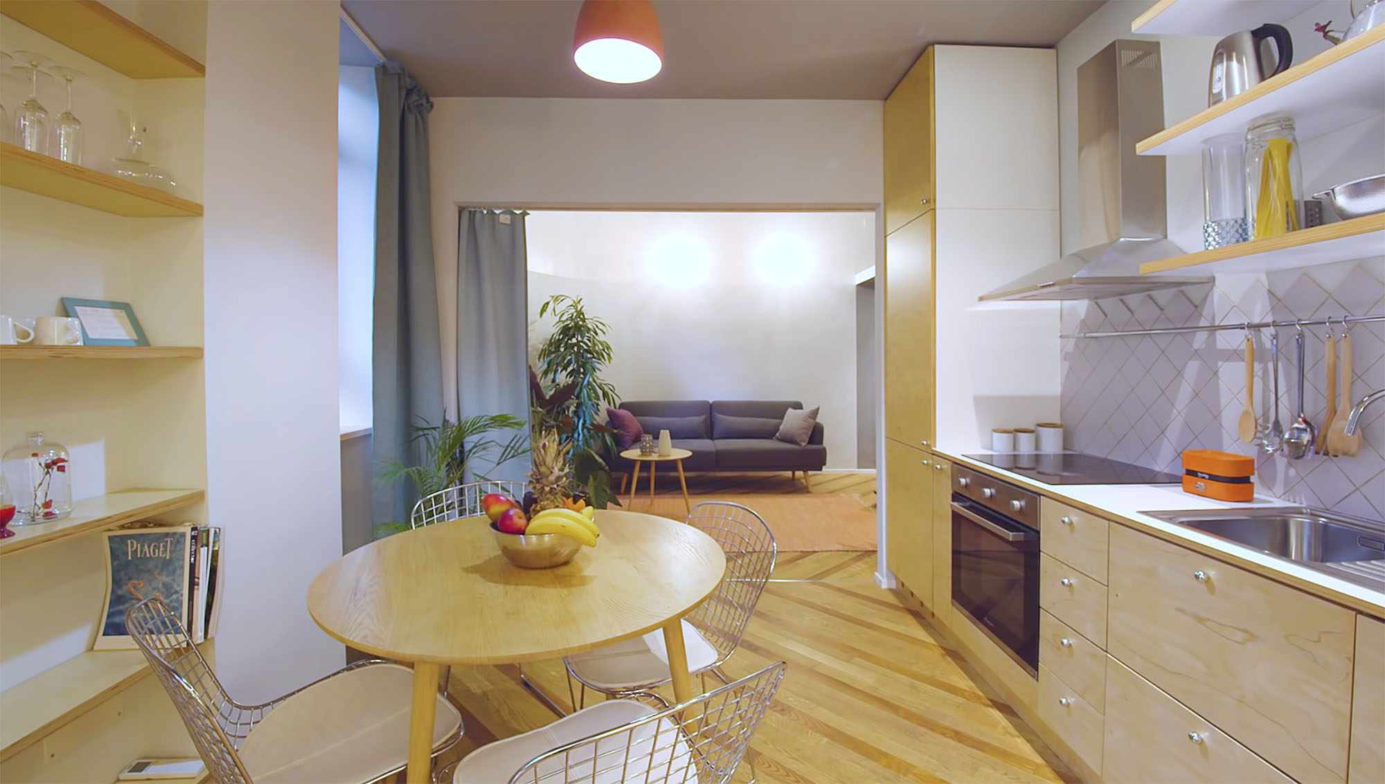 House In Constant Transition small apartment renovation ATOMAA kitchen