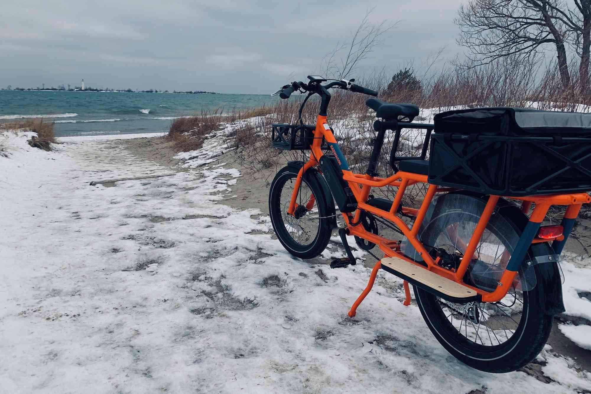 winter e-bike ride