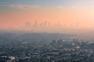 Smog over Los Angeles, California