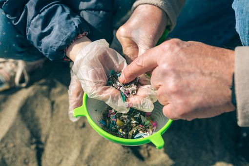 microplastic particles