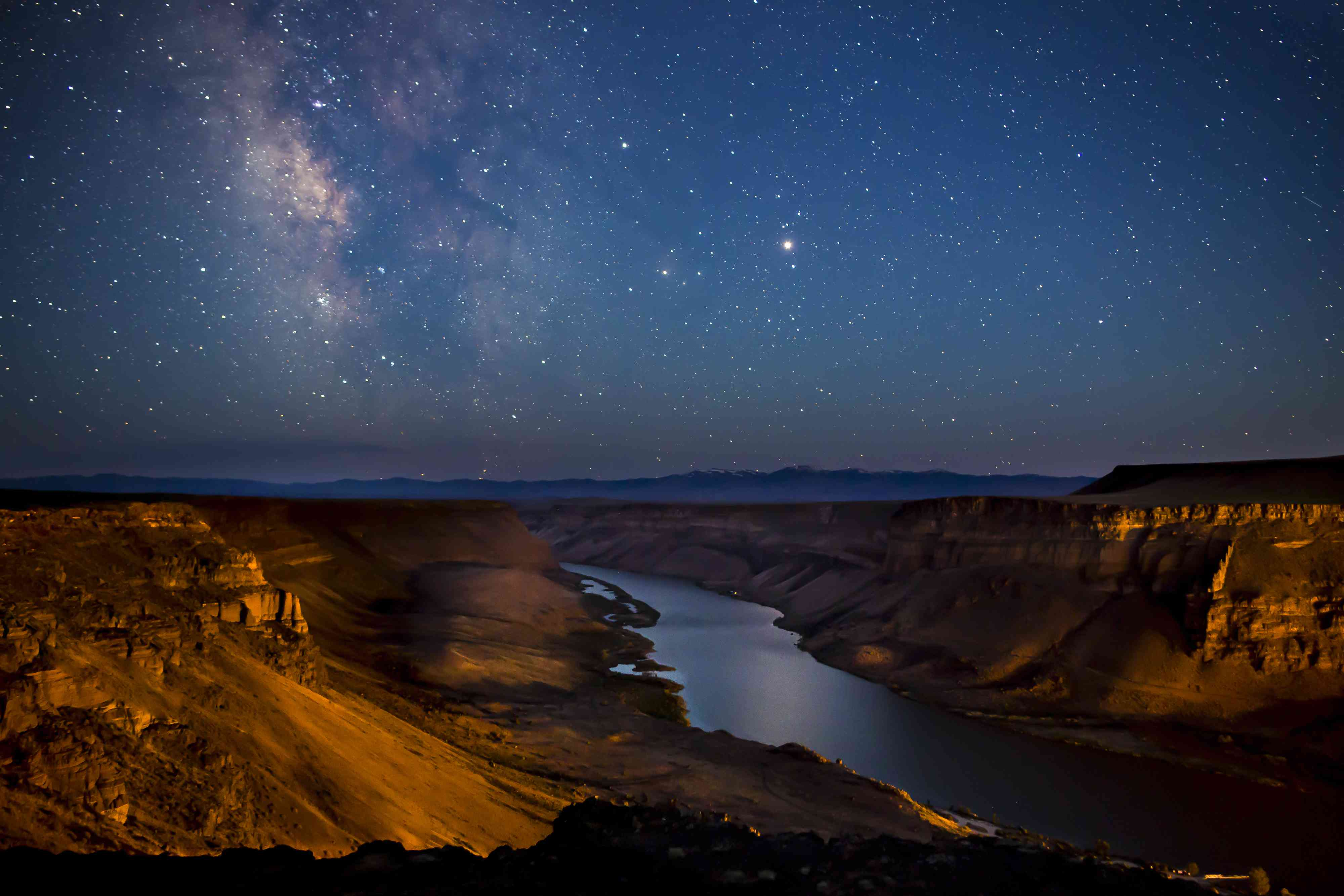 stars over Snake River, Idaho