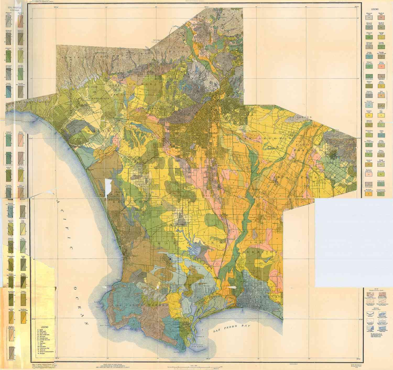 Los Angeles soil map