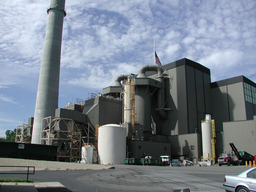 trash incinerator facility
