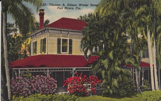 Edison house in fort myers, Florida