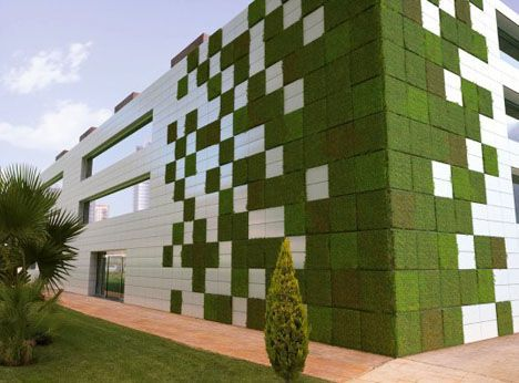 Lifewall: Las baldosas de jardín verticales modulares se alimentan de la contaminación para alimentar a las plantas
