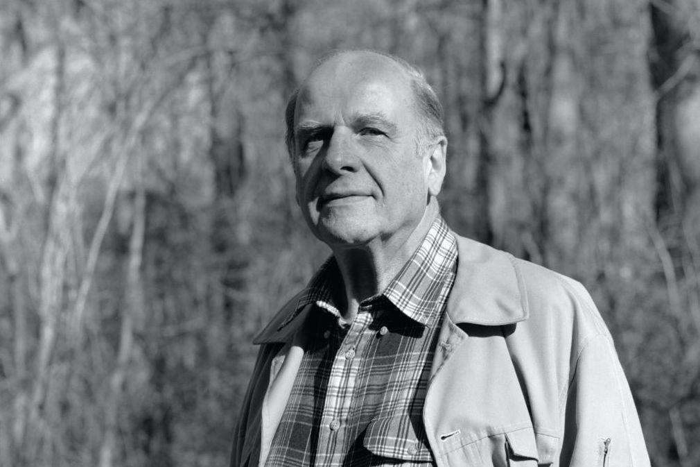 Portrait of Gaylord Nelson posing in Rock Creek Park