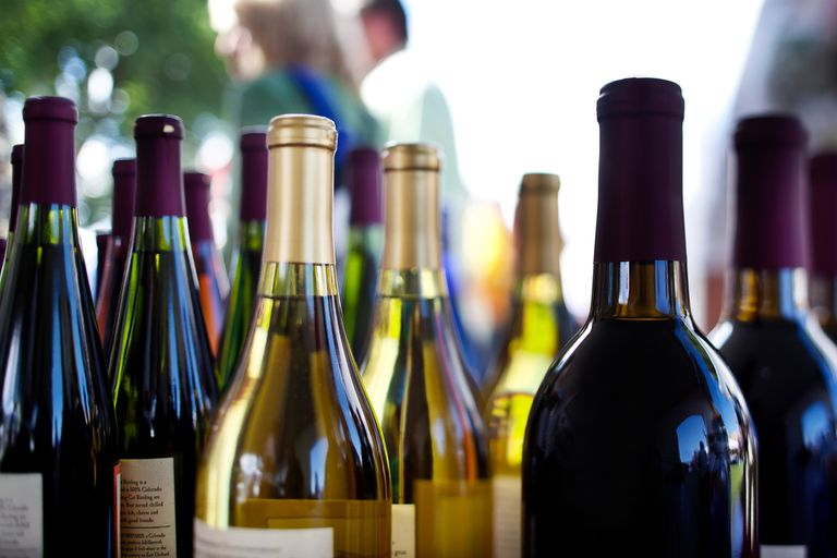 Detail of Assorted Wines