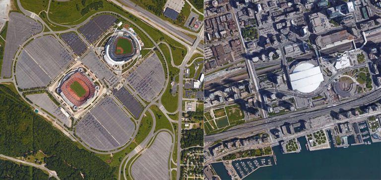 Historia de dos estadios: 19.000 plazas de aparcamiento frente a una ciudad llena de gente
