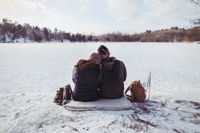 Picnic on a frozen lake