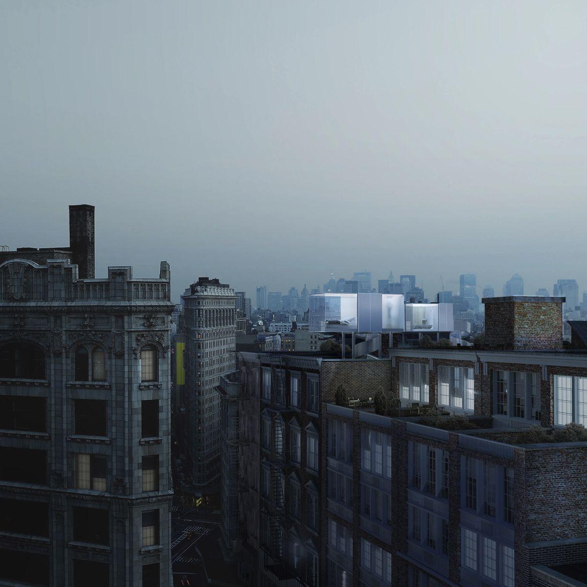 rooftop hotel rendering