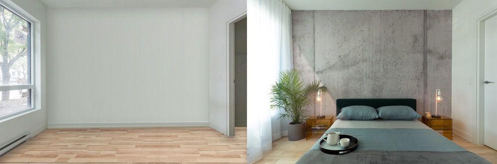 Prêt à vivre before and after