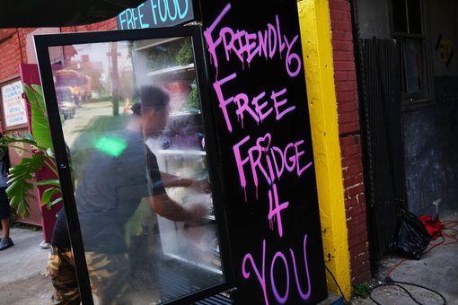free fridge at Universe City