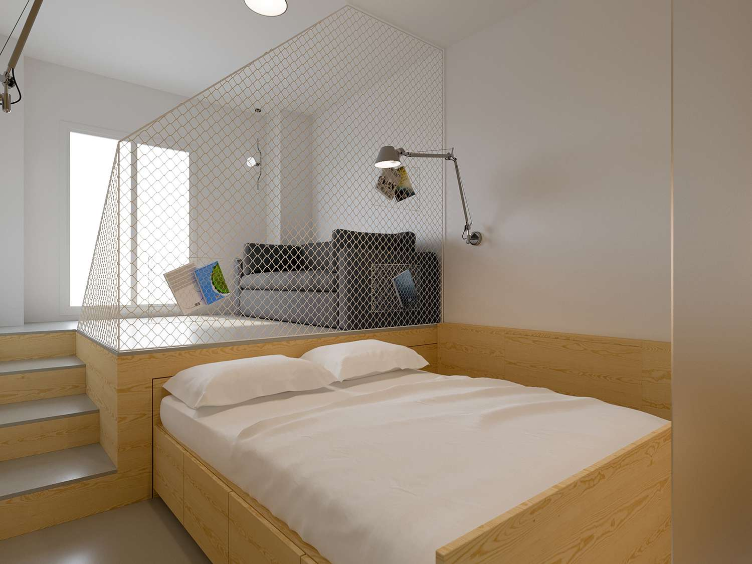 maison b micro-apartment POINT.ARCHITECTS bed