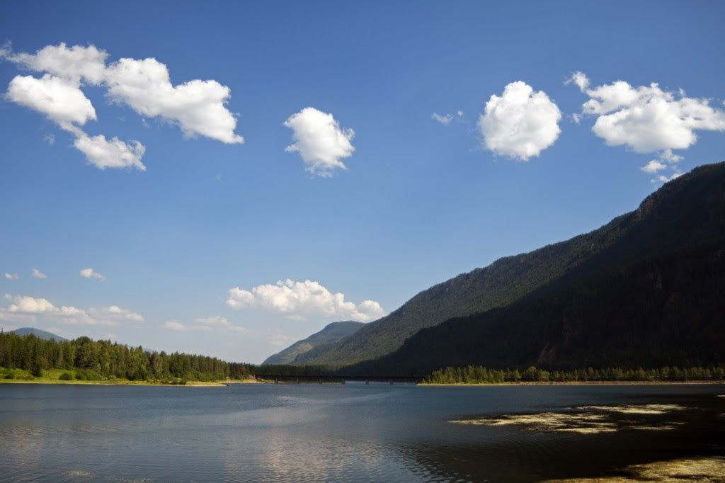 The Clark Fork and surrounding mountains near the Bull River-Clark Fork project area