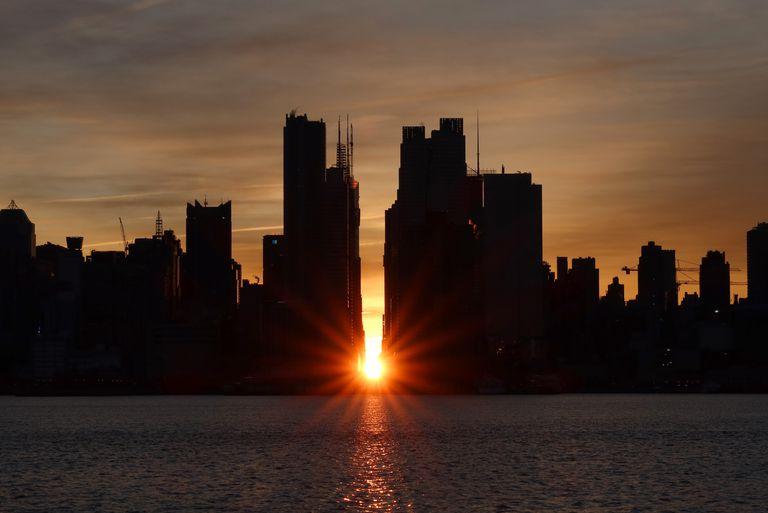 Manhattanhenge Sunrise in New York City