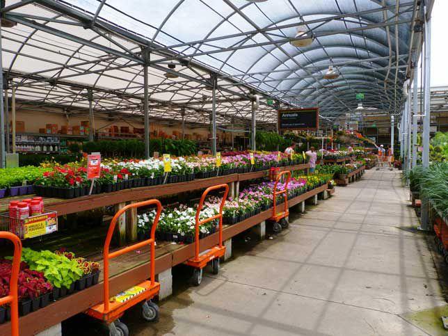 A gardening center at Home Depot