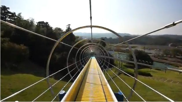 gravity-powered roller coaster