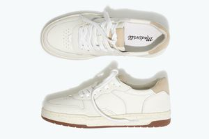 Madewell Court Sneaker in white