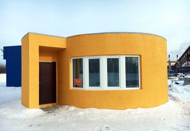 Compañía rusa imprime en 3D una pequeña casa en 24 horas