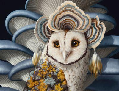 hybrid lifeforms oil paintings by Jon Ching