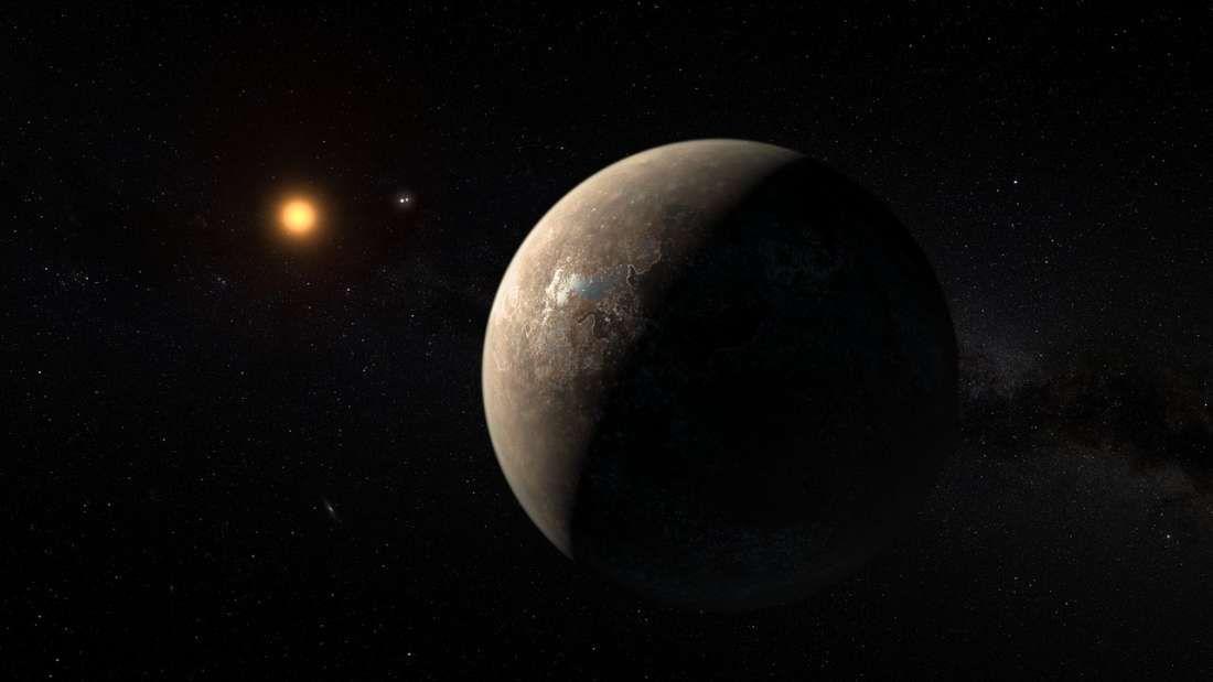 exoplanet named Proxima b, orbiting the star Proxima Centauri