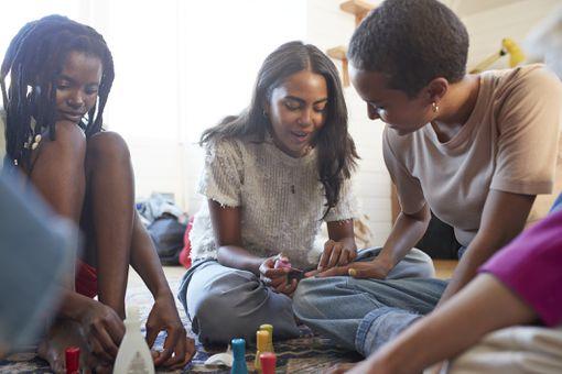 Girls Painting Nails