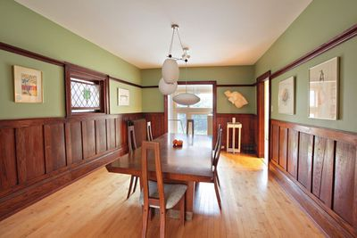 Dining room with large table