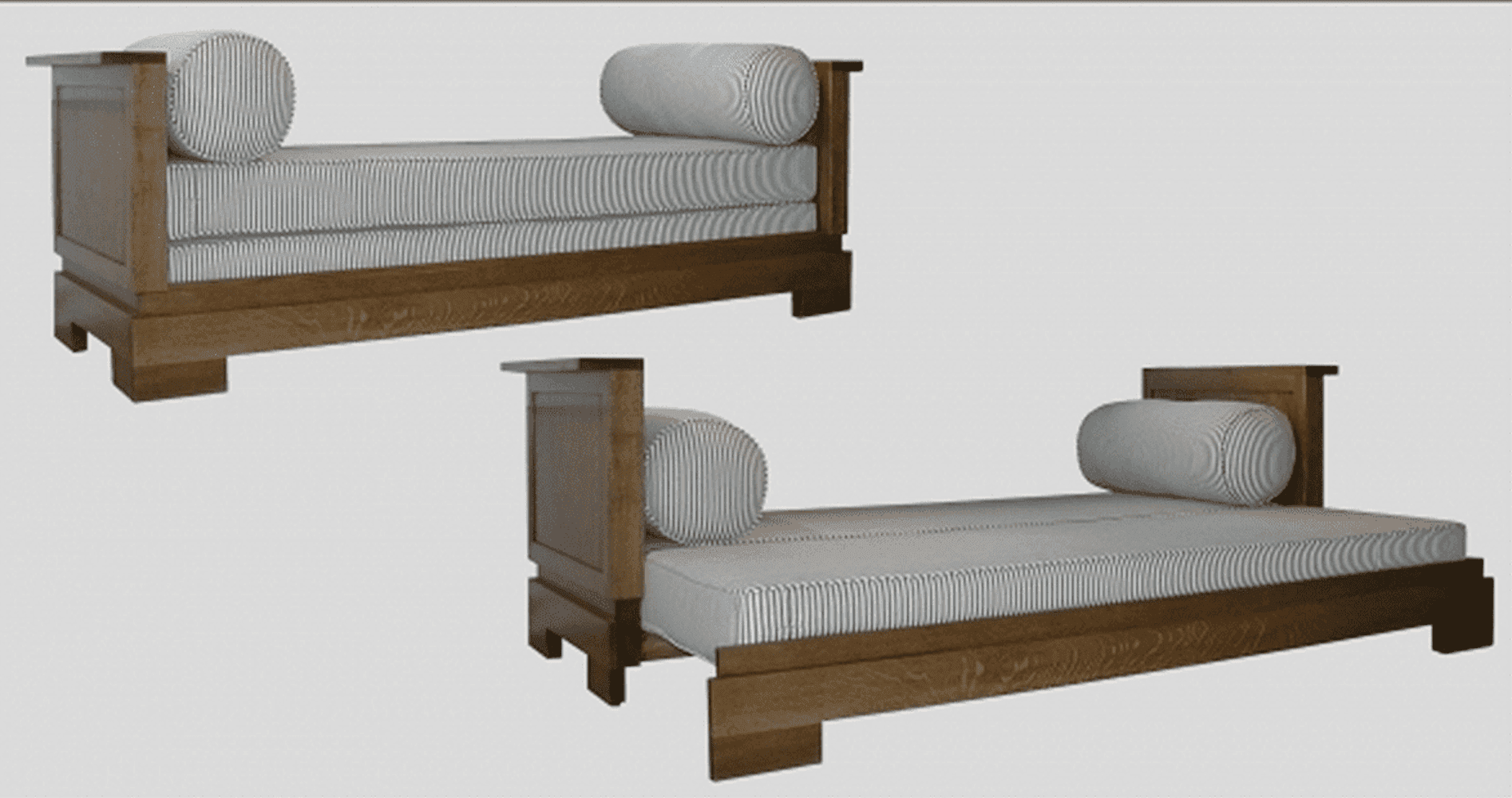 Demonstration of daybed folding out