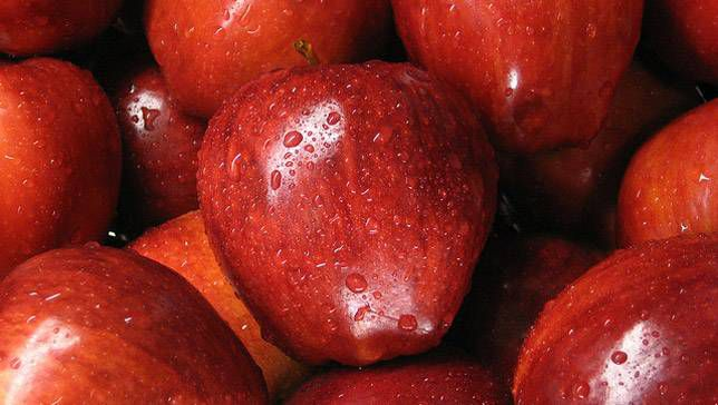 A collection of red delicious apples