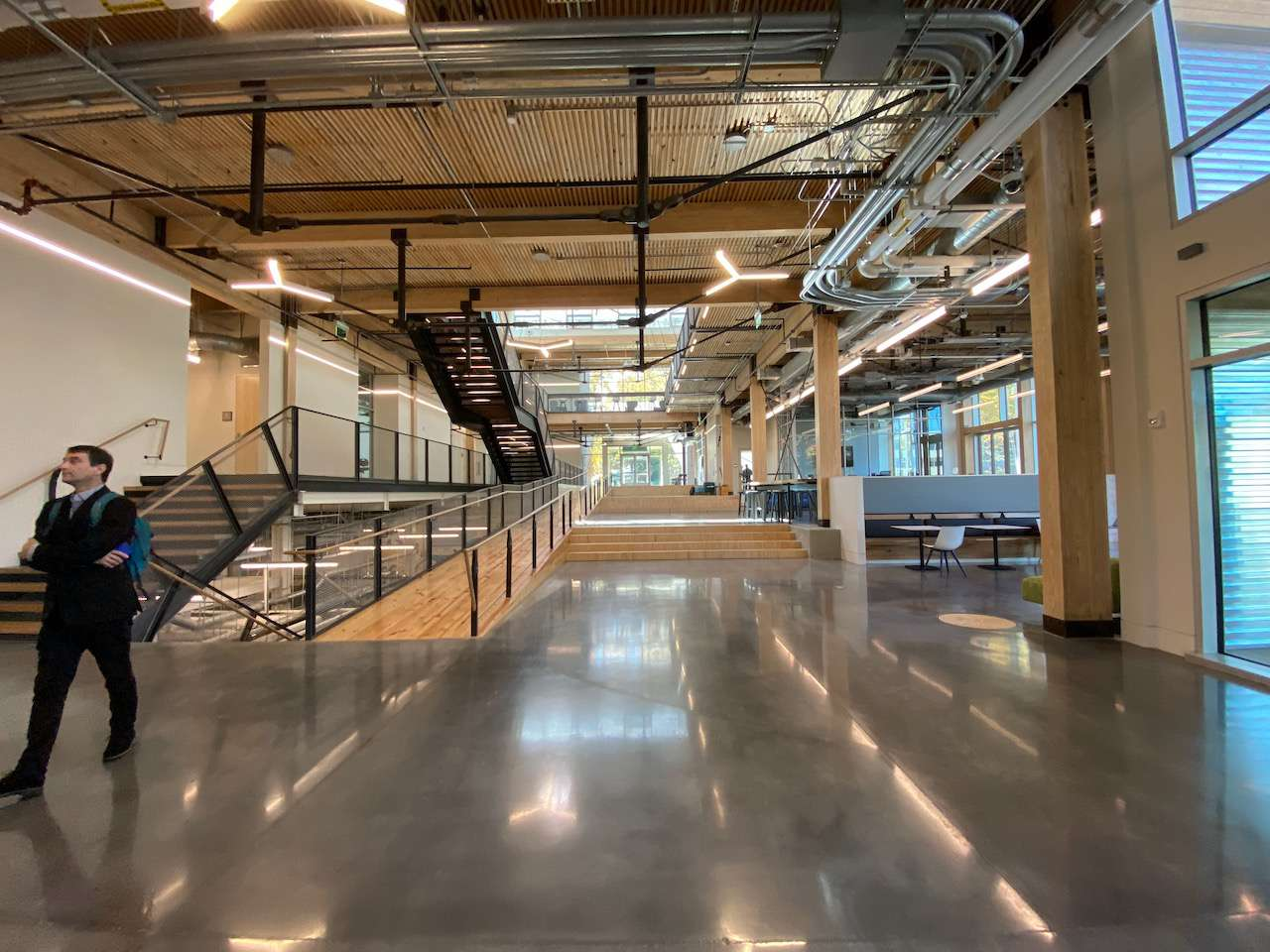 Interior ground floor with Corey