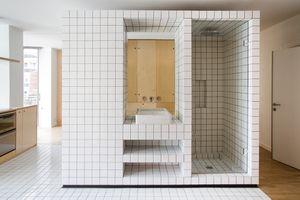 JM55 microapartment renovation by BURR Studio interior central core