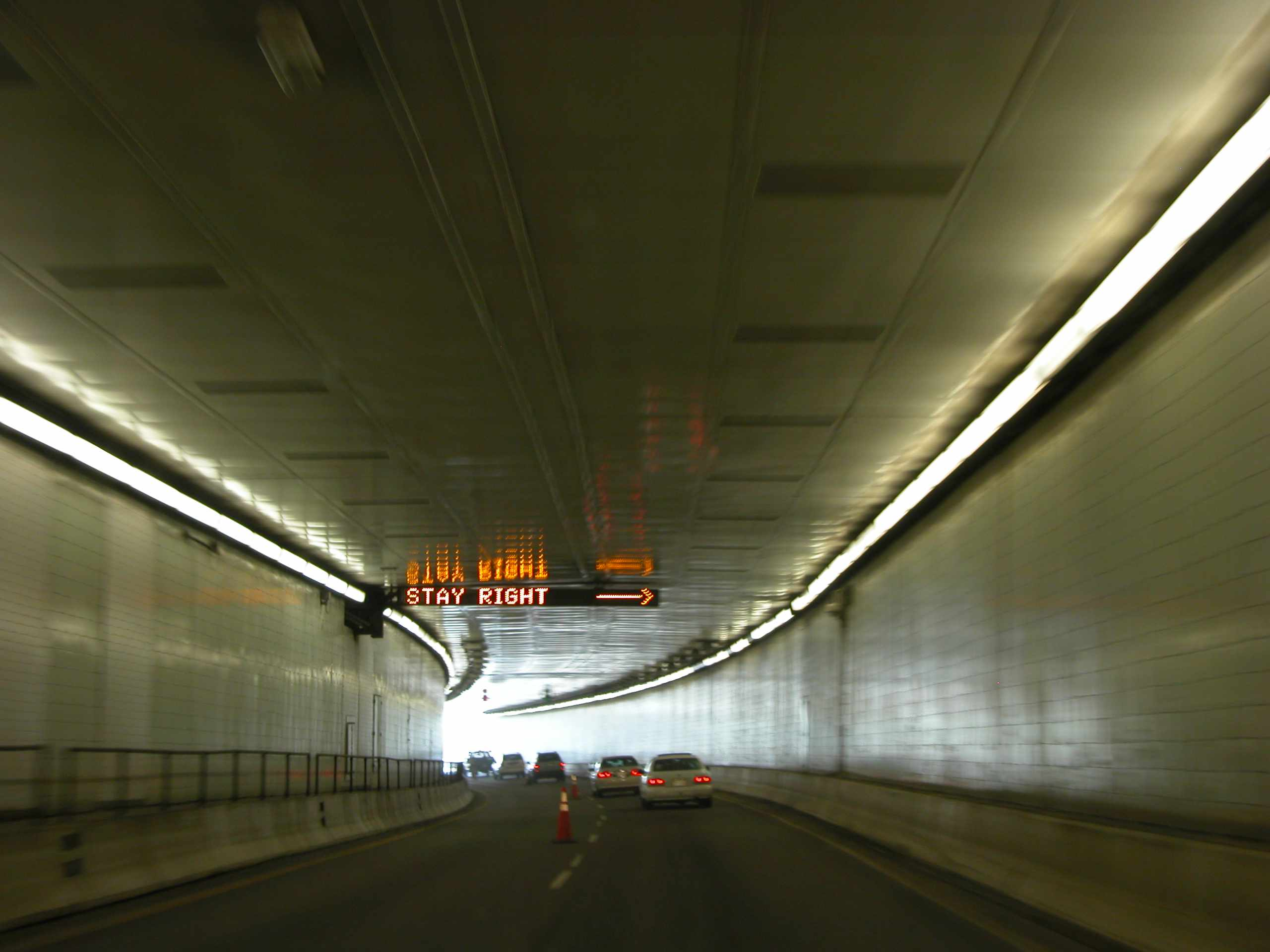 Traffic flows through the Eisenhower Tunnel located on the I-70 in Colorado