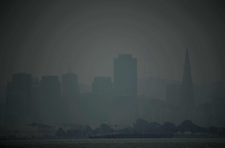 San Francisco shrouded in wildfire smoke