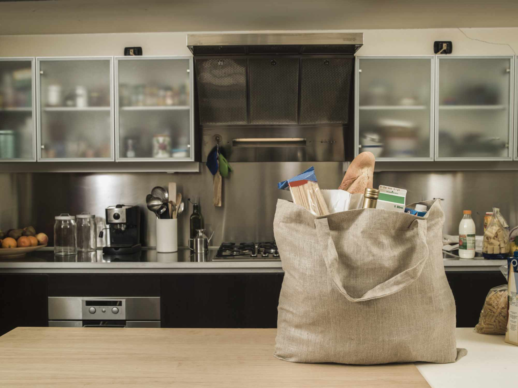 Reusable grocery bags mean less waste and less demand for plastic.