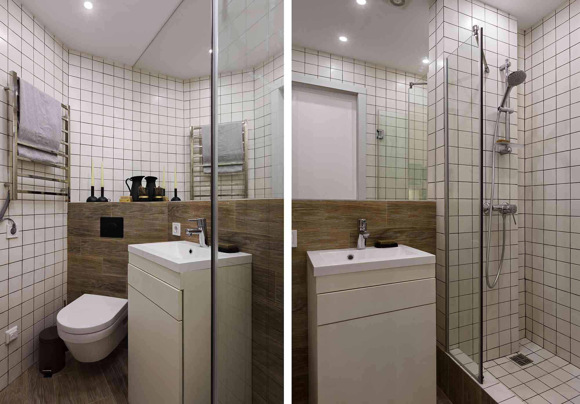 Odessa micro-apartment renovation Fateeva Design bathroom