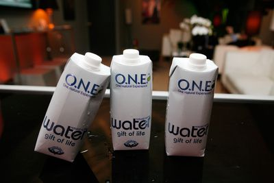 3 tetra pak containers of water