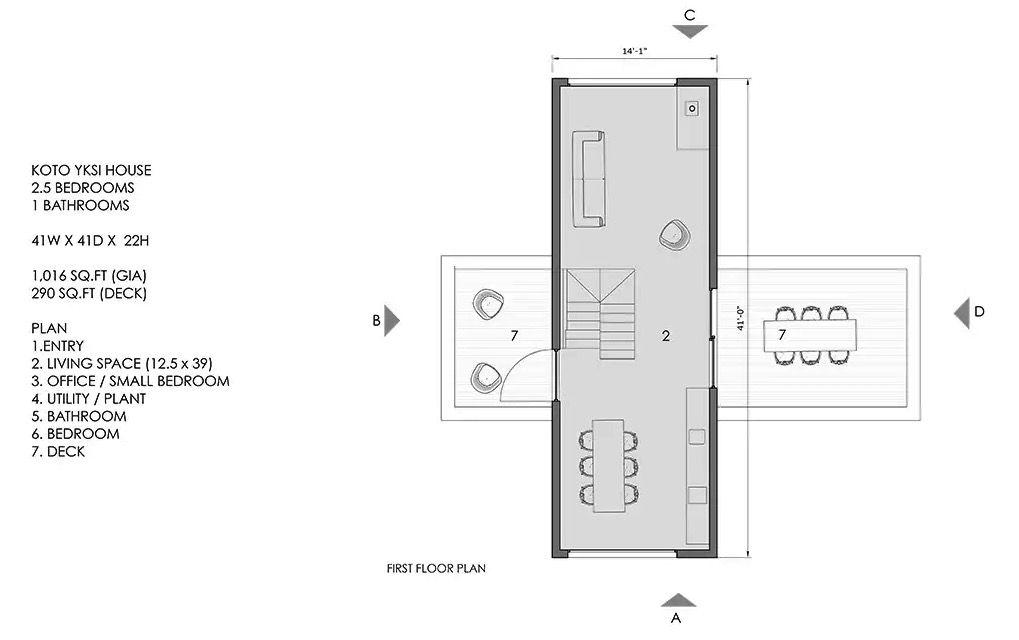 Koto upper level plan
