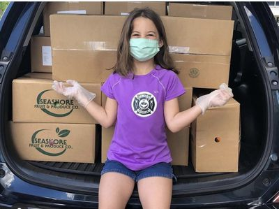 girl with food rescue delivery