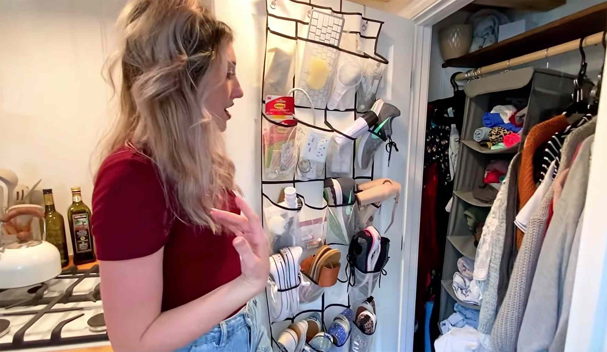 tiny house Rebekah teenytiny7 closet