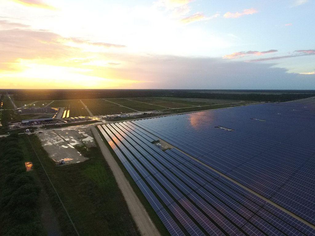 Aerial view of FPL's Babcock Ranch Solar Center, Punta Gorda, Florida.