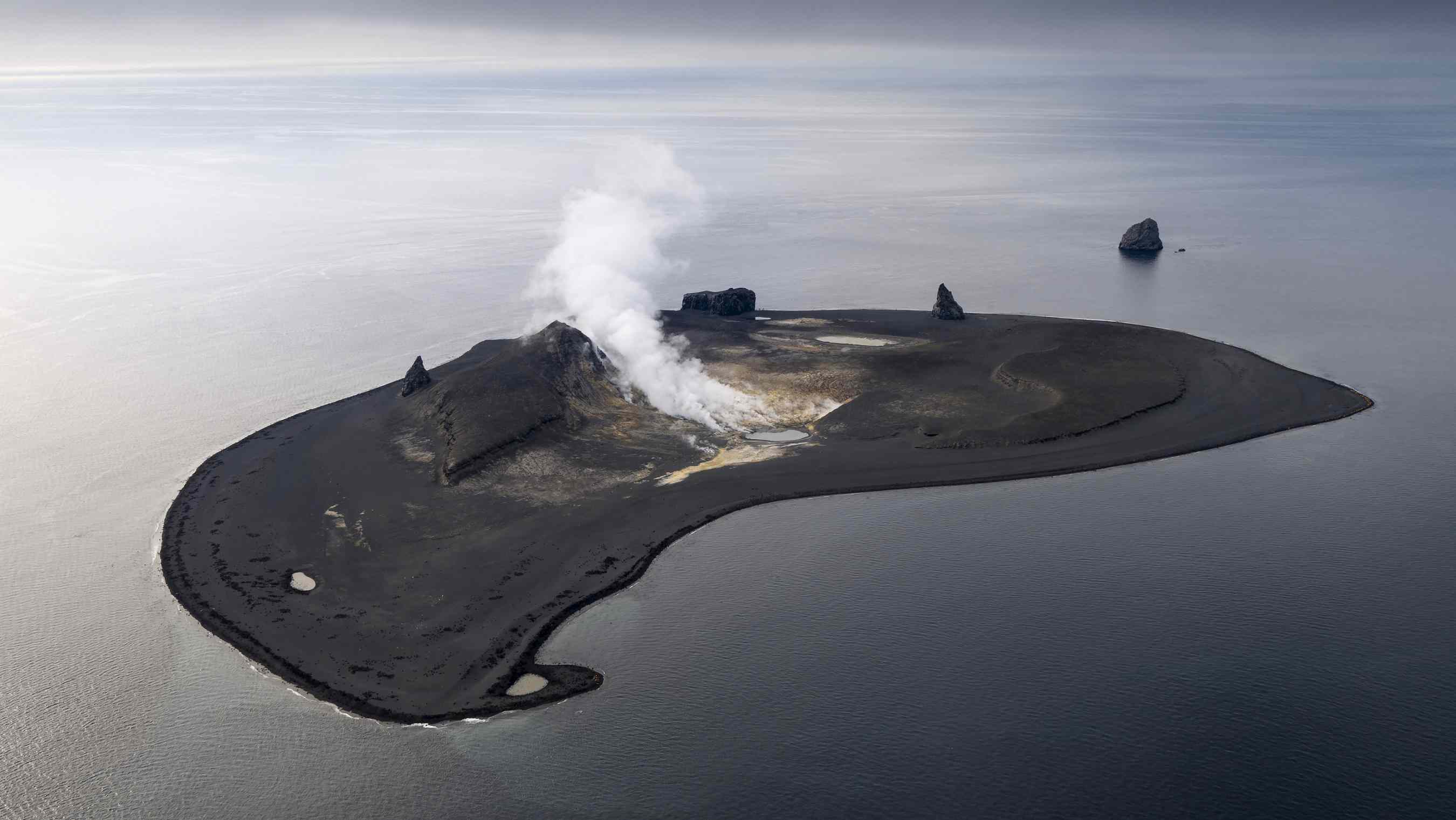 Bogoslof Island is an extremely active volcano
