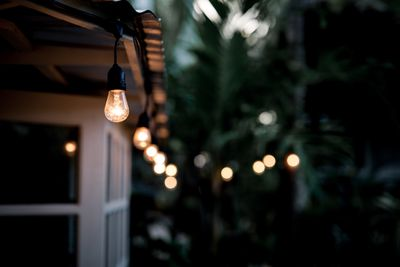 String lights outdoors