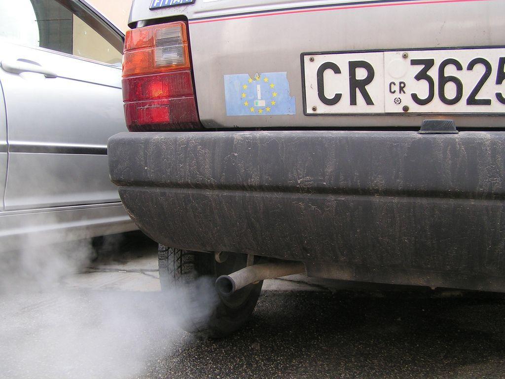 car with smog